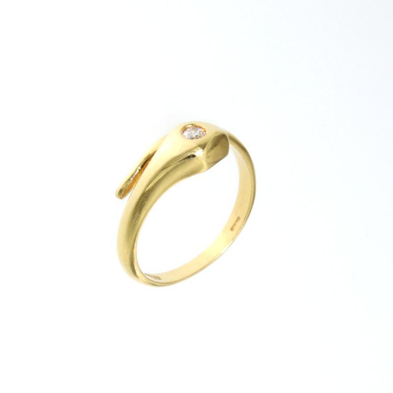 Outlet dei preziosi anello a forma di serpente con 1 for Soggiorno a forma di diamante
