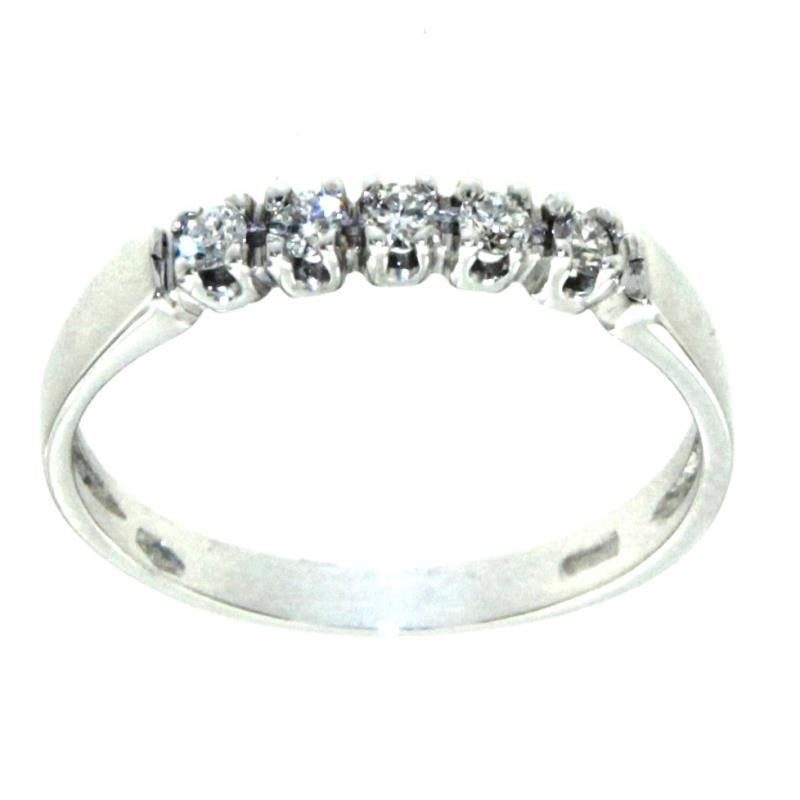 alta qualità grande sconto prezzo migliore Anello Riviere Con 5 Diamanti Di Circa Ct 0.02 Cad Mis ...