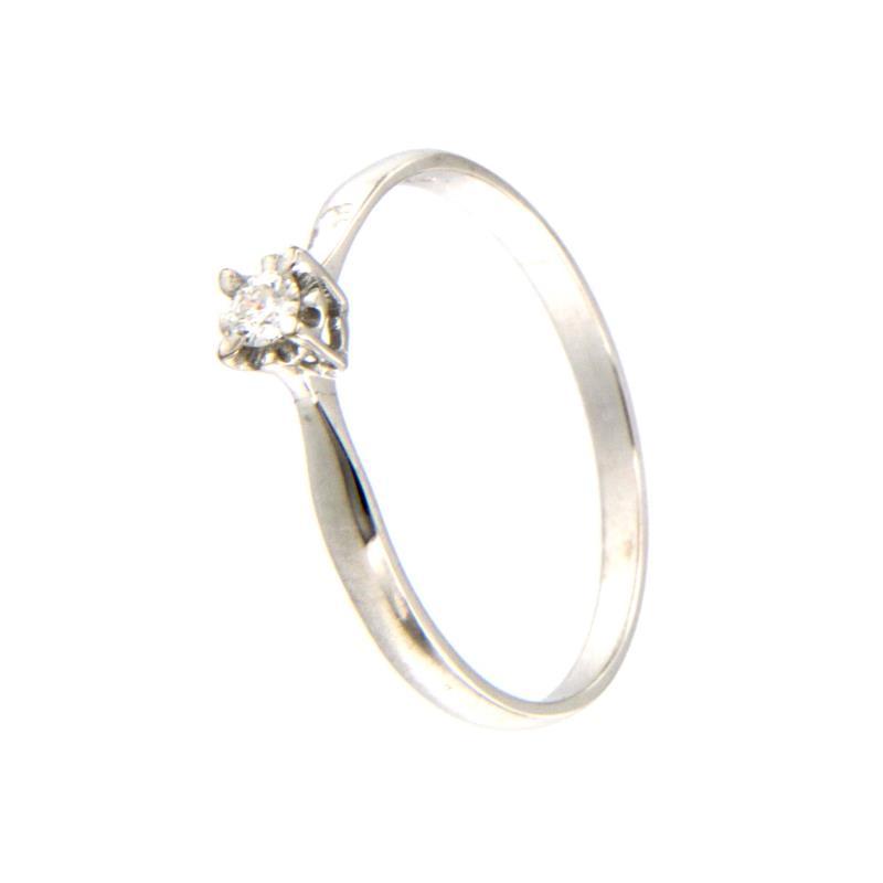 Stroili - Solitario - Oro Bianco 750/1000 - Con Diamante ...
