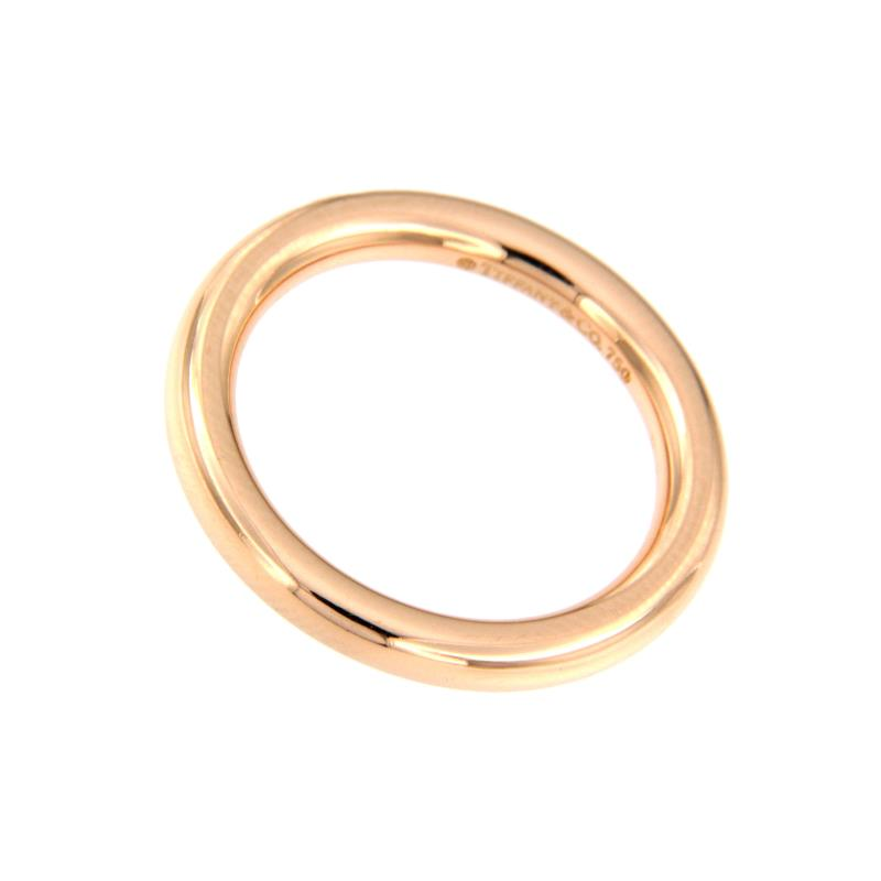 Tiffany & co - fede - oro rosa 750/1000 - mis. 9,5